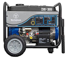westinghouse wh7500e generator